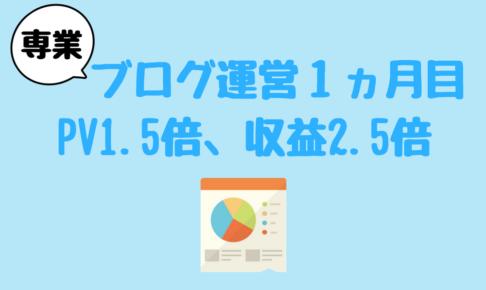 ブログ運営報告1ヵ月目