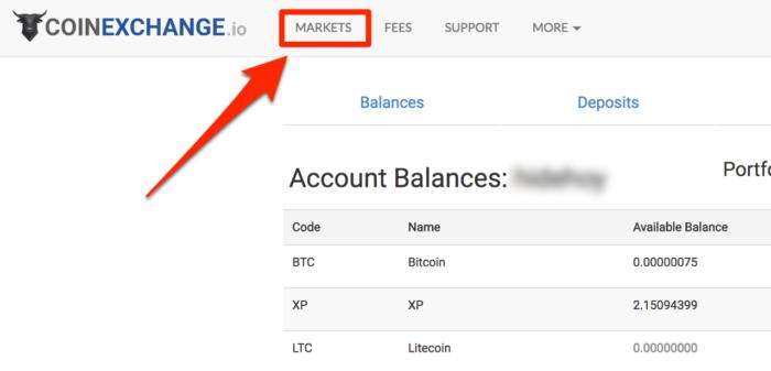 CoinExchange-マーケット